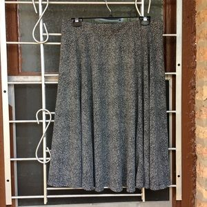 Lands' End A-Line black and white skirt Size M